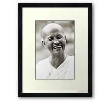 Buddhist Nun Framed Print