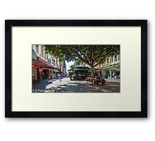 Rundle Mall - Looking East in the Rundle Mall Framed Print
