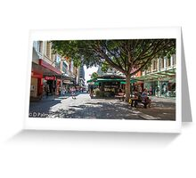 Rundle Mall - Looking East in the Rundle Mall Greeting Card