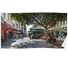 Rundle Mall - Looking East in the Rundle Mall Poster