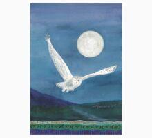 Owl, wearing a shawl of moonlight T-Shirt