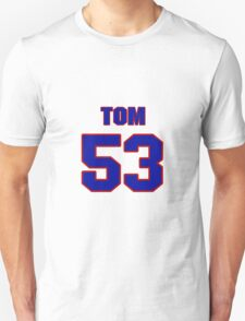 National football player Tom Seabron jersey 53 T-Shirt