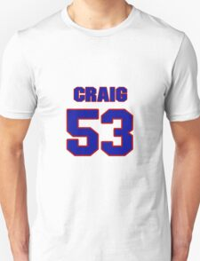 National football player Craig Shaffer jersey 53 T-Shirt
