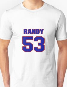 National football player Randy Shannon jersey 53 T-Shirt