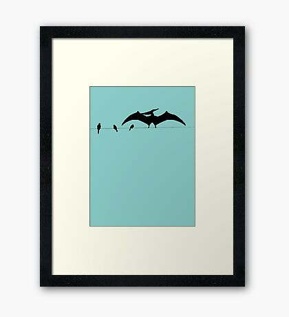 Bird on a wire expanded Framed Print