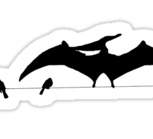 Bird on a wire expanded Sticker