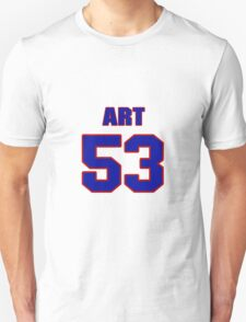 National football player Art Spinney jersey 53 T-Shirt