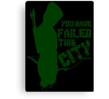 Green Vigilante Canvas Print