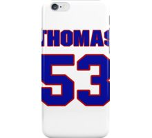 National football player Thomas Benson jersey 53 iPhone Case/Skin