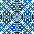 Blue tile mosaic seamless background  pattern by Richard Laschon