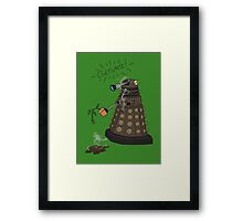 Dalek Retrement - Dr Who's Orders | CULTIVATE Framed Print