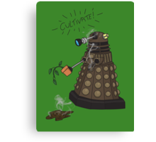 Dalek Retrement - Dr Who's Orders | CULTIVATE Canvas Print
