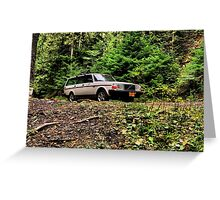 Volvo in the Woods Greeting Card
