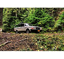 Volvo in the Woods Photographic Print