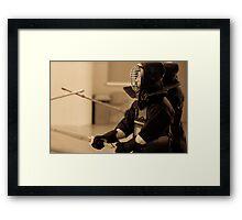 Kendo Lineup Framed Print