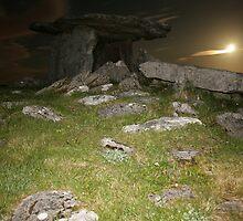 Night at Poulnabrone Dolmen 3 by John Quinn