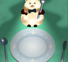 dinner time hamster by PaperKingdom