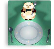 dinner time hamster Canvas Print
