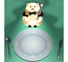 dinner time hamster Photographic Print
