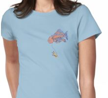 My fish floats for you Womens Fitted T-Shirt