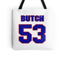 National football player Butch Maples jersey 53 Tote Bag
