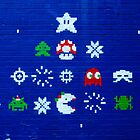 8-bit Christmas Tree Graffiti  by AWilsonPhoto