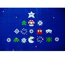 8-bit Christmas Tree Graffiti  Photographic Print