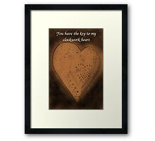 Clockwork Valentine Framed Print