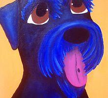 Black Giant Schnauzer by Katie Weychardt