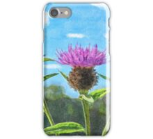 Thistle - mock watercolour iPhone Case/Skin