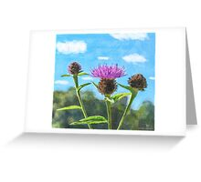 Thistle - mock watercolour Greeting Card