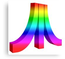 Atari rainbow logo Canvas Print