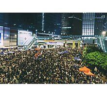 Umbrella Revolution in Hong Kong 2014 Photographic Print