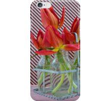 Tulips in mini milk bottles iPhone Case/Skin