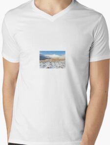 Snowy Tracks to Pen Y Fan Mens V-Neck T-Shirt