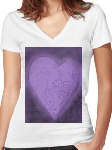 Purple Heart Women's Fitted V-Neck T-Shirt
