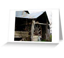 old water wheel  Greeting Card