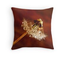 Dandelion diamonds Throw Pillow