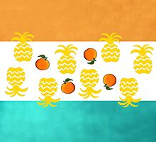 7 DAYS OF SUMMER- TROPPOBOHO orange and teal by 7 days of Summer