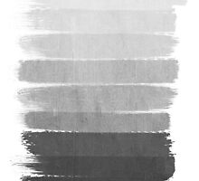 Brushstroke - Ombre Grey, Charcoal, minimal, Monochrome, black and white, trendy,  painterly art  by charlottewinter