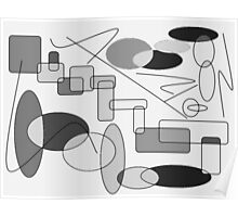 Geometric Expressions-Available As Art Prints-Mugs,Cases,Duvets,T Shirts,Stickers,etc Poster