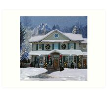 I'll Be Home For Christmas Art Print