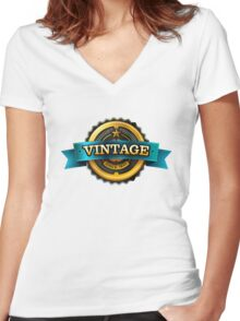 Retro Vintage T-shirt/Hoodie  Women's Fitted V-Neck T-Shirt
