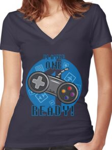 Player One Women's Fitted V-Neck T-Shirt