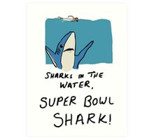 Super Bowl Shark Art Print