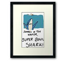Super Bowl Shark Framed Print