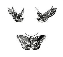 Harry Styles Swallow/Butterfly Tattoo by mediawear