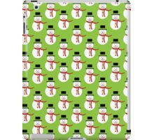 Snowman, Hat, Scarf, Buttons - Red Green White iPad Case/Skin