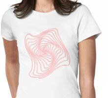 Spiral Red outlines Womens Fitted T-Shirt