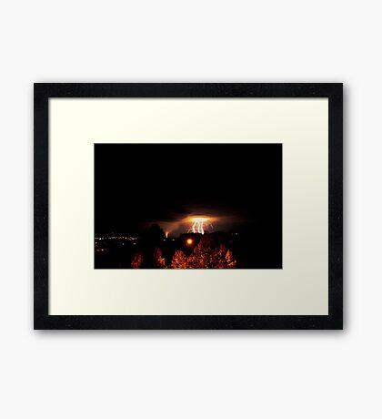 Alberta Lightning IV Framed Print